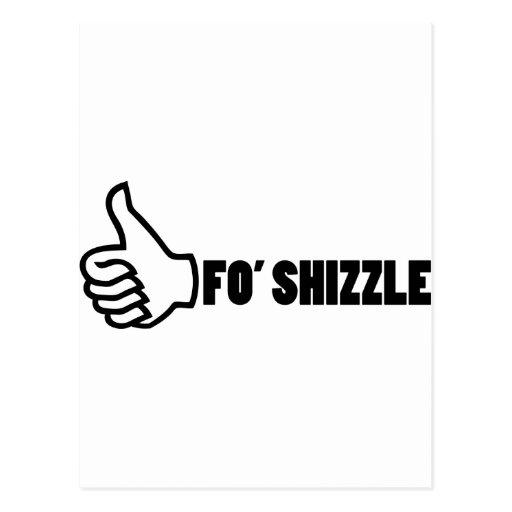 Fo'Shizzle Thomb Up Postcard