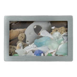 Fósil azul de encargo del vidrio del mar de Seagla Hebillas Cinturon