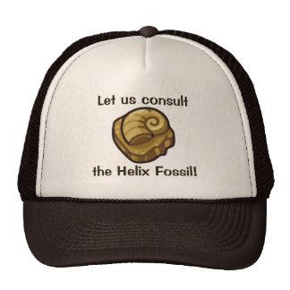 Fósil de la hélice gorras de camionero