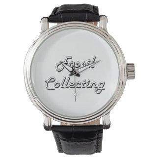 Fósil que recoge diseño retro clásico relojes de pulsera