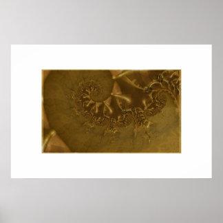 Fósiles de los dinosaurios del chocolate póster