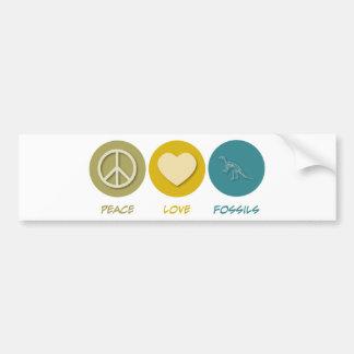 Fósiles del amor de la paz pegatina para auto
