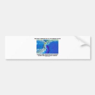 Foso de Puerto Rico del tsunami (tierra de la tect Pegatina De Parachoque