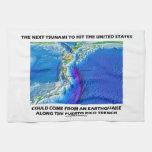 Foso de Puerto Rico del tsunami (tierra de la tect Toallas De Cocina