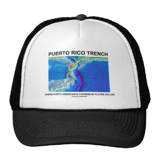 Foso de Puerto Rico donde el Caribe norteamericano Gorras