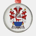 Foss Family Crest Ornaments
