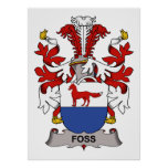 Foss Family Crest Posters