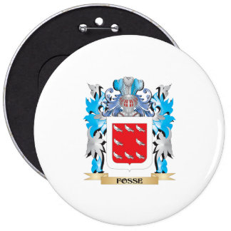 Fosse Coat of Arms - Family Crest Pinback Buttons