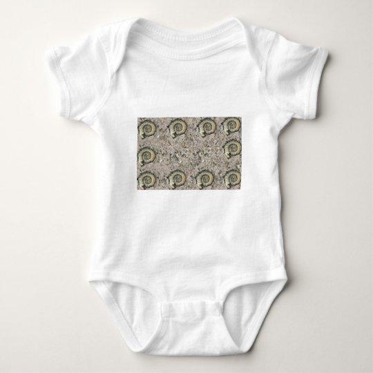 fossil background baby bodysuit
