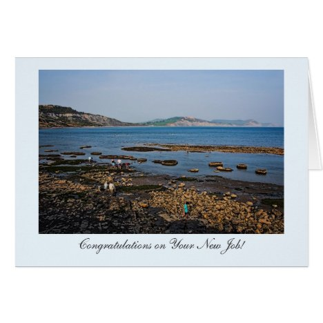 Fossil Coast Beach, Congrats on Your New Job! Card