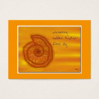 FOSSIL DIG ACEO HAIKU ART TRADING CARD -----------