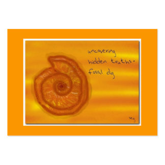 FOSSIL DIG ACEO HAIKU ART TRADING CARD ----------- BUSINESS CARDS