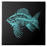"""Fossil Fish Ceramic Tile<br><div class=""""desc"""">Fossil Fish,  Canyon of Graffiti - Talking Canyons,  New Mexico</div>"""