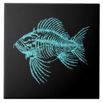 Fossil Fish Ceramic Tile