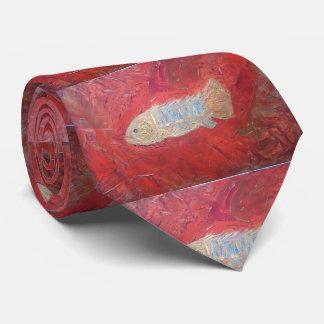 Fossil fish tie