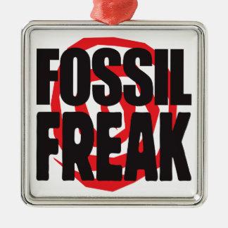 Fossil Freak Square Metal Christmas Ornament