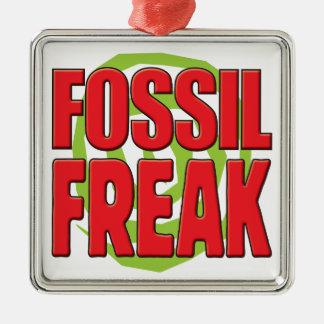 Fossil Freak R Square Metal Christmas Ornament
