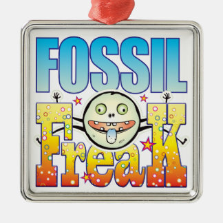 Fossil Freaky Freak Square Metal Christmas Ornament