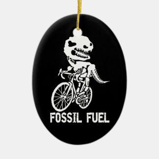Fossil fuel ceramic ornament
