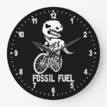 Fossil fuel large clock