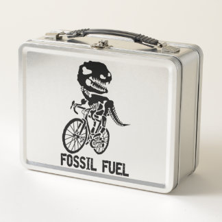 Fossil fuel metal lunch box