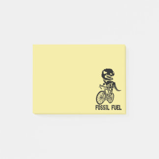 Fossil fuel post-it notes
