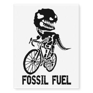 Fossil fuel temporary tattoos