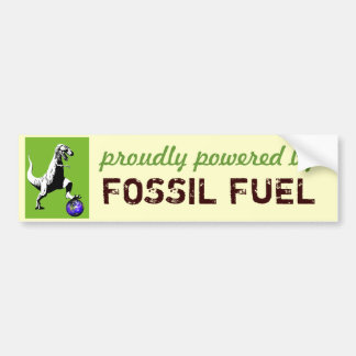 Fossil Fueled Car Bumper Sticker