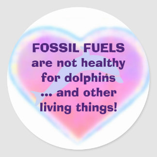 Fossil Fuels are Not Healthy sticker