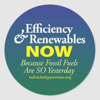 Fossil Fuels are So Yesterday Sheet of Stickers