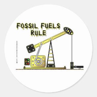 Fossil Fuels Rule,Oil Jack Sticker,Oil, Classic Round Sticker