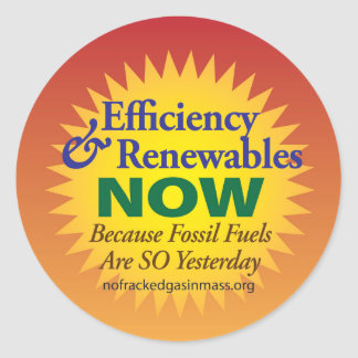 """Fossil Fuels, So Yesterday """"Sunny Edition"""" Sticker"""
