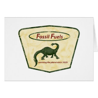 Fossil Fuels: Warming the Planet Since 1823! Card