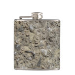 Fossil Hash Print Hip Flask
