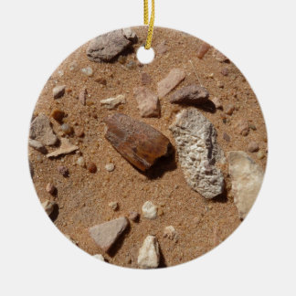 Fossil in the dessert Double-Sided ceramic round christmas ornament