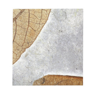 Fossil Leaves Notepad