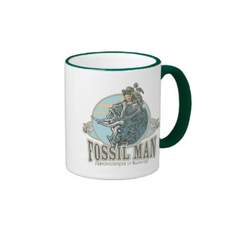 Fossil Man by Mudge Studios Ringer Mug