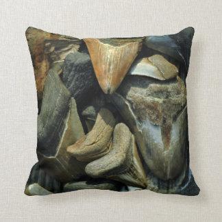 Fossil Megalodon Shark Teeth Pillow