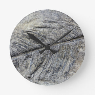 Fossil Plant Round Clock