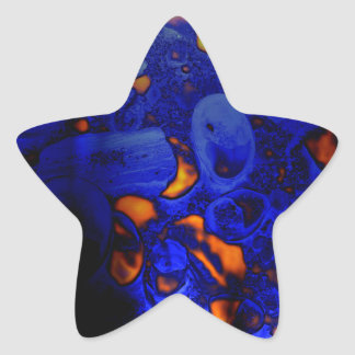 Fossil Record Hot Blue Inner Earth Star Stickers