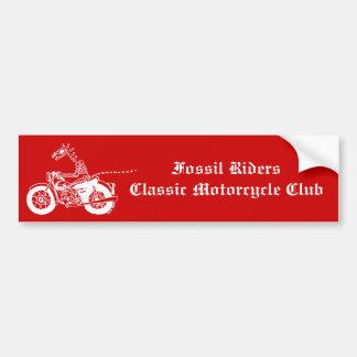 Fossil Rider in White Car Bumper Sticker