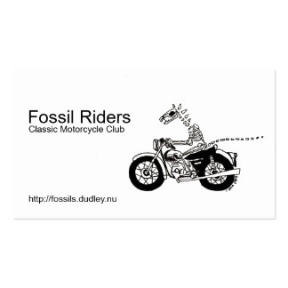 Fossil Riders Business Card