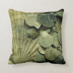 Fossil Scallop Shell Collection Pillow