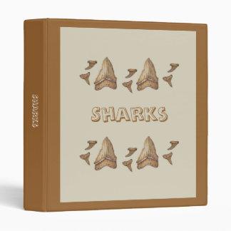 Fossil Shark Teeth 3 Ring Binders