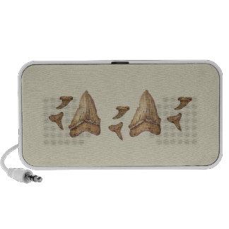 Fossil Shark Teeth Portable Speaker