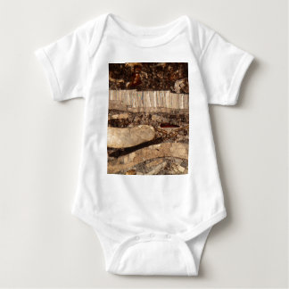 Fossil shells under the microscope baby bodysuit