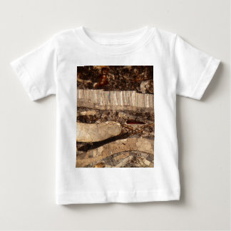 Fossil shells under the microscope baby T-Shirt