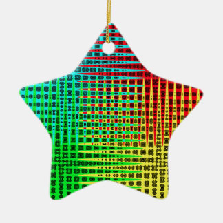 Fossil Wave Double-Sided Star Ceramic Christmas Ornament