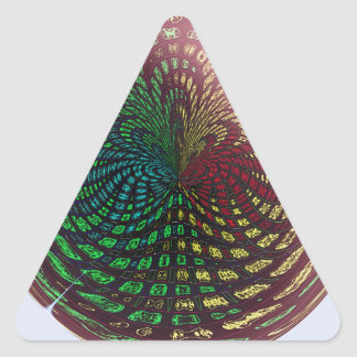 Fossil Wave Sphere Triangle Sticker