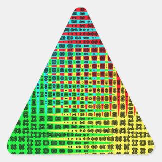 Fossil Wave Triangle Sticker